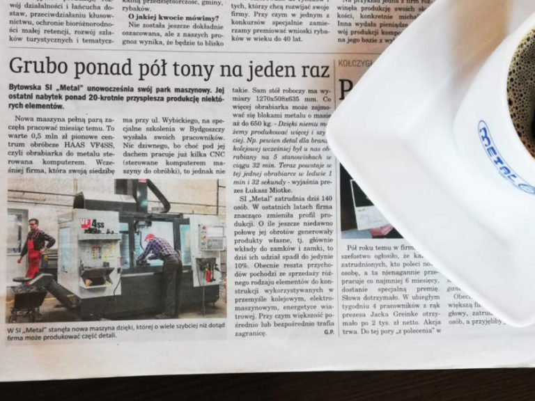A few words about our development in today's Kurier Bytowski